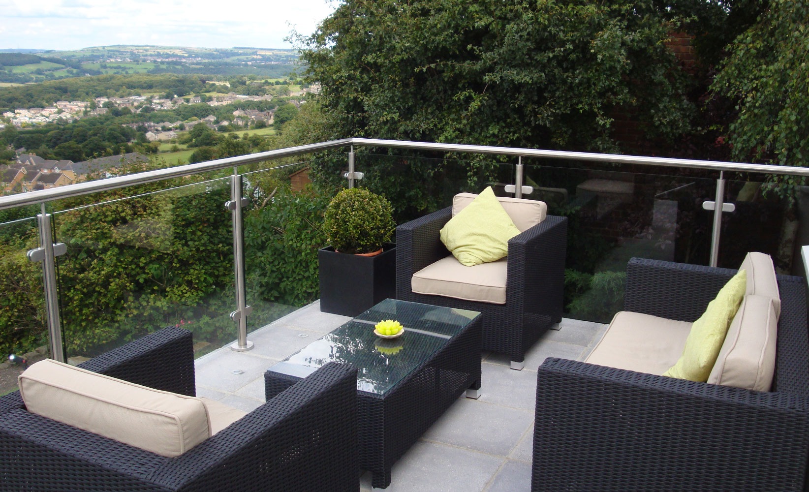 stainless steel glass balcony 3